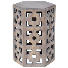 Briela Geometric End Table by World Menagerie