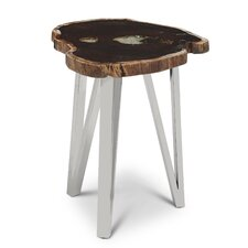 Sanora Rosewood Side Table by Union Rustic