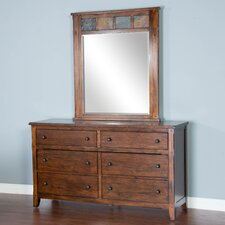 Goldfield 6 Drawer Dresser with Mirror by Loon Peak