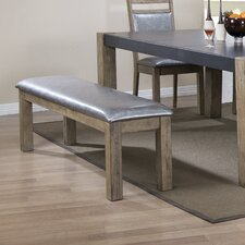 Ariadne Metal/Wood Dining Bench by 17 Stories