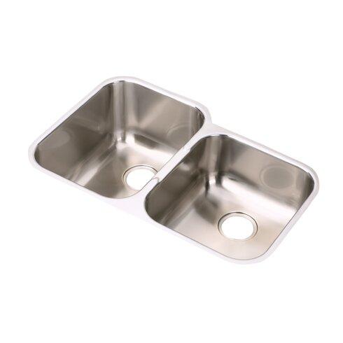 """Elumina 31.25"""" x 20.5"""" Double Basin Undermount Kitchen Sink"""