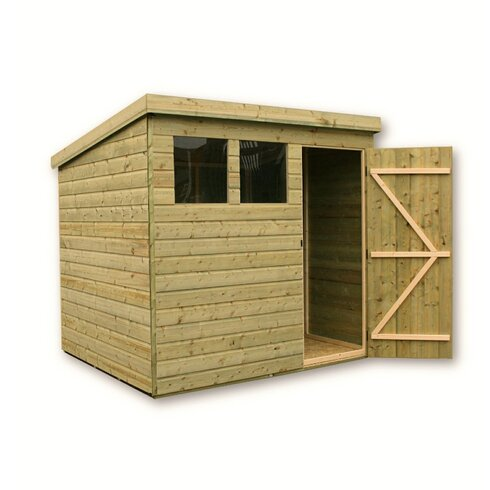 7 x 5 Wooden Lean-To Shed