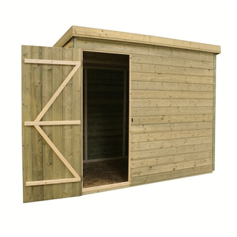 7 x 7 Wooden Lean-To Shed
