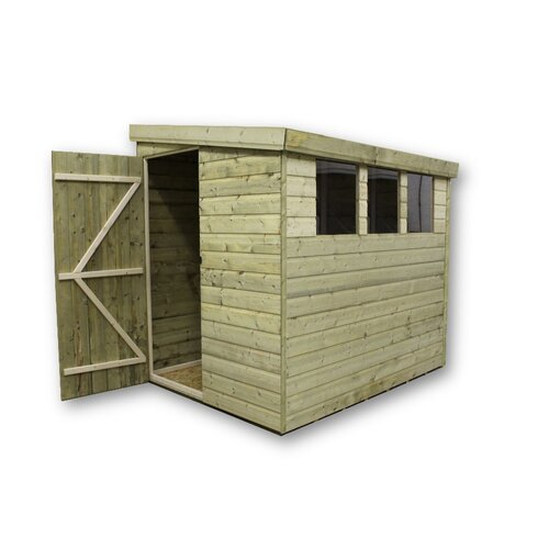6 x 6 Wooden Lean-To Shed