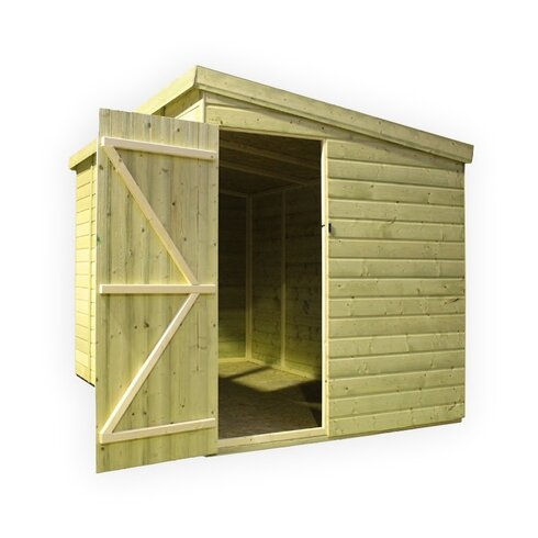 12 x 6 Wooden Lean-To Shed