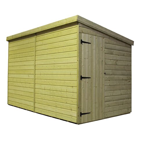 8 x 8 Wooden Lean-To Shed