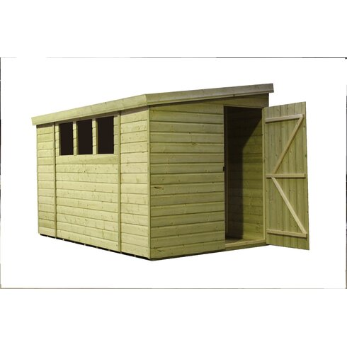 9 x 7 Wooden Lean-To Shed