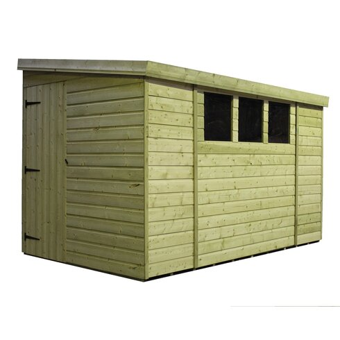 14 x 8 Wooden Lean-To Shed