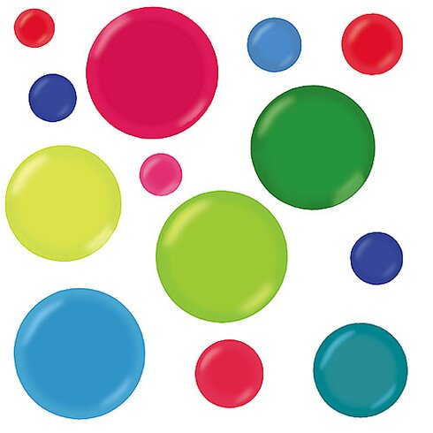 3-D Dots Wall Stickers