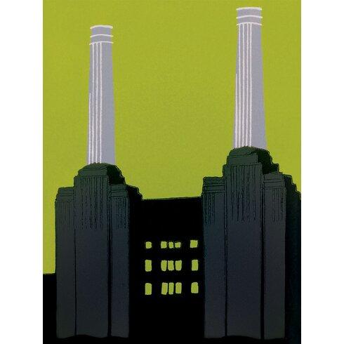 Battersea Power Station by Jennie Ing Canvas Wall Art