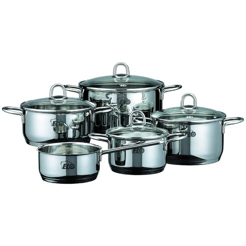 Mexico Rubin 5-Piece Stainless Steel Cookware Set