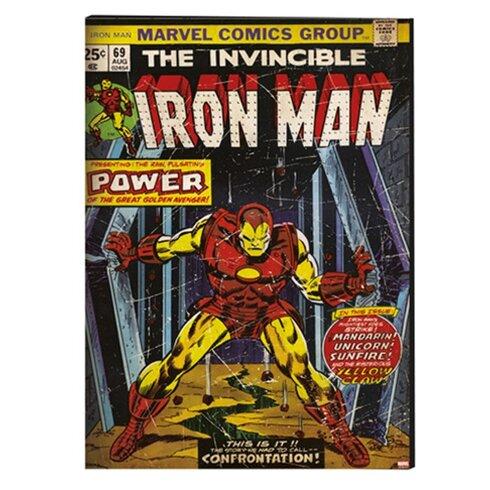 Marvel Iron Man Vintage Advertisement on Canvas