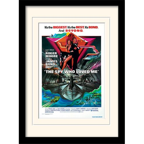 "James Bond ""Spy Who Loved Me One-Sheet"" Framed Vintage Advertisement"