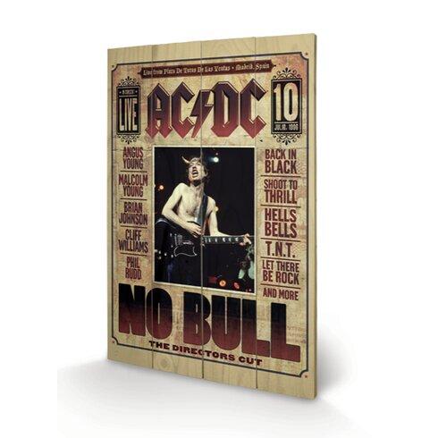 AC-DC, No Bull Vintage Advertisement Plaque