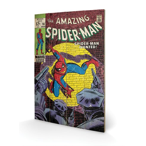 Spider-Man Wanted Vintage Advertisement Plaque