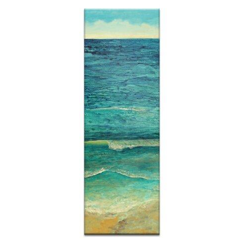 Ocean Shore 1 by Jennifer Webb Art Print Wrapped on Canvas
