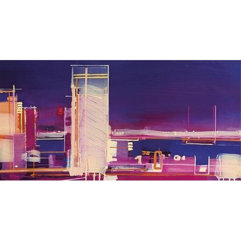 City Nocturne by Christopher Farrell Canvas Wall Art
