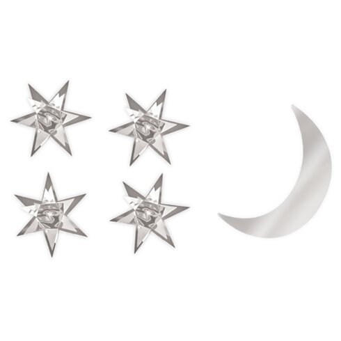 Stars and Moon Baby 3D Wall Sticker Set
