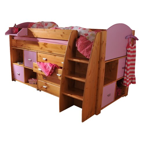 Rondo European Single Mid Sleeper Bed with Storage