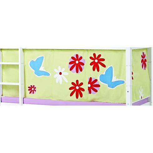 Vorhang in Butterfly für 200cm x 90cm halbhohes Bett