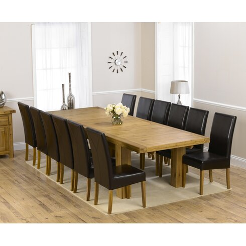 Patricia Extendable Dining Table and 12 Chairs