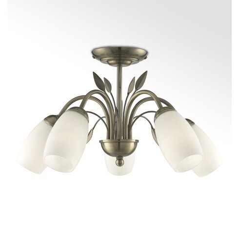 5 Light Semi-Flush Ceiling Light