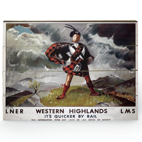Western Highlands Vintage Advertisement Plaque