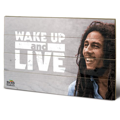 Bob Marley, Wake Up and Live Vintage Advertisement Plaque