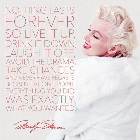 Marilyn Monroe Nothing Lasts Forever Canvas Wall Art