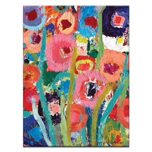 Palette Poppies 2 by Anna Blatman Art Print on Canvas