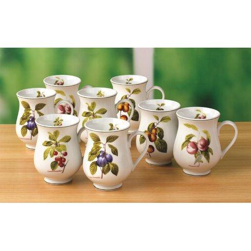 Orchard Fruit 8 Piece Mug Set
