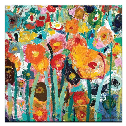 Palette Poppies by Anna Blatman Art Print on Canvas