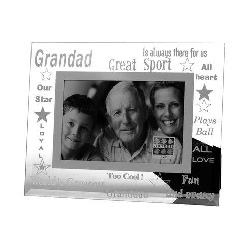 Moments Bevelled Glass Grandad Photo Frame