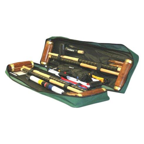 Hurlingham 4 Player Croquet Set with a Tool Kit Bag