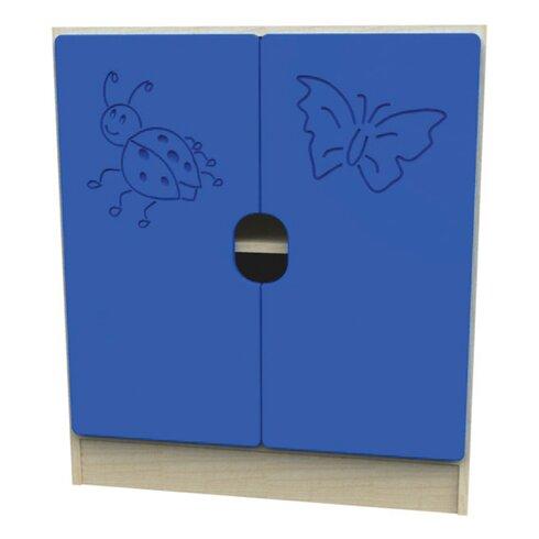 Novo Ladybird 4 Shelf Unit with 2 Large Doors