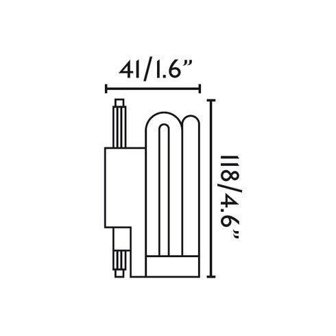 24W R7s Compact Fluorescent (CFL) Light Bulb