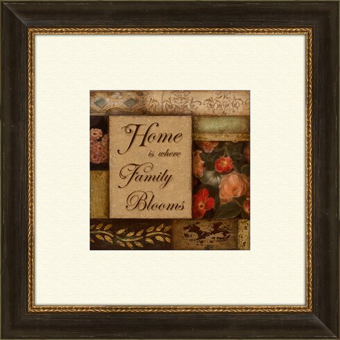 Home and Love A Framed Graphic Art