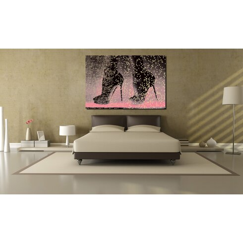 Neon Catwalk Graphic Art on Canvas in Pink Pastal