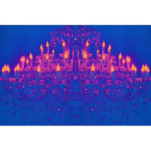 Ballroom Blitz Graphic Art on Canvas in Blue