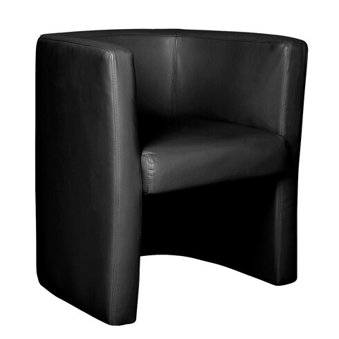 Reception Leather Faced Tub Chair