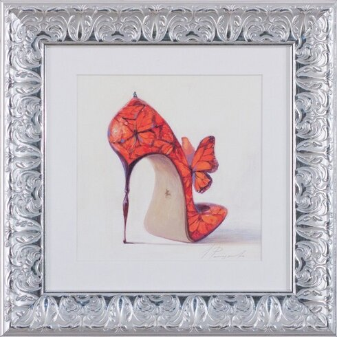 Heel Framed Graphic Art