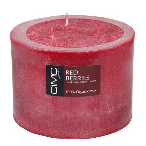 Red Berries Pillar Candle