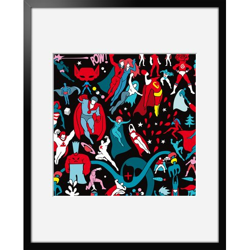 Flying Hereos by Aksel Framed Graphic Art