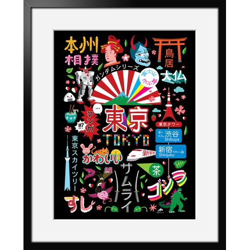 Icon's Tokyo by Aksel Framed Graphic Art