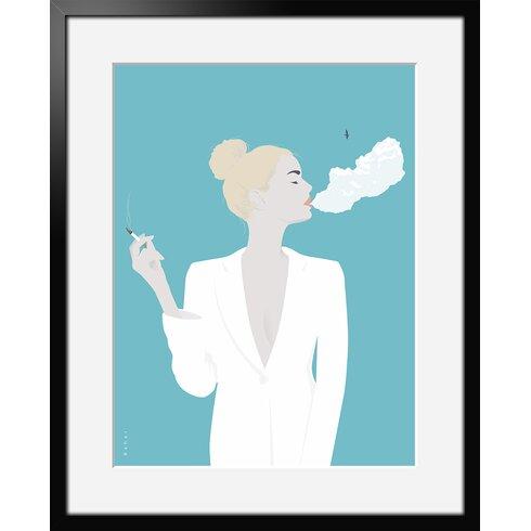 Cigarette by Bahar Framed Graphic Art