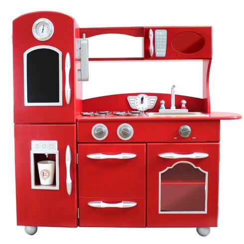 Teamson kids wooden play kitchen set reviews wayfair for Kitchen set 7 in 1