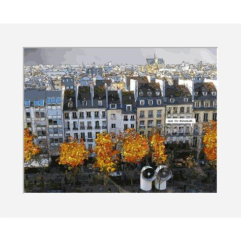 Que Du Bonheur by Philippe Matine Framed Graphic Art