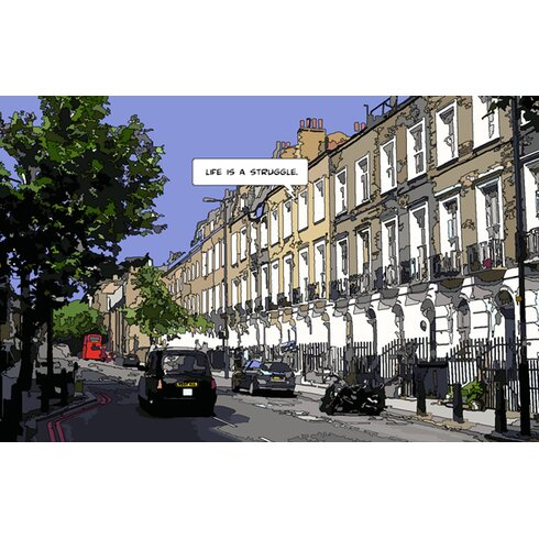 London Life Print by Philippe Matine Graphic Art on Canvas