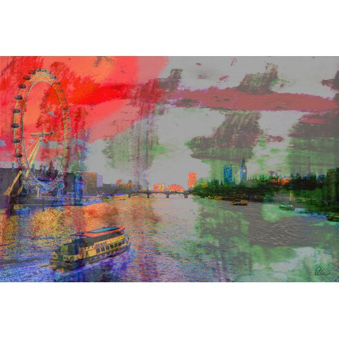 London Eye View with Ben by Andrew Lee Graphic Art Wrapped on Canvas