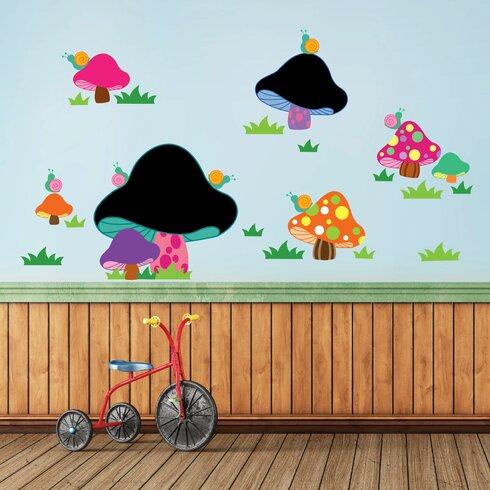 Blackboard Mushroom Shaped Wall Sticker